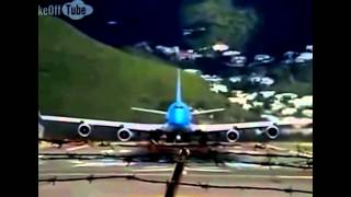 Nehmen Sie scheitern B 747 dramatischen ausziehen Funny Accident 2014
