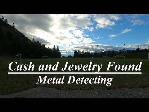 Cash and Jewelry found Metal Detecting Sports Fields!