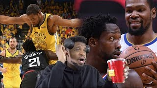 KD BEATING EM BY HIMSELF WTF LOL! WARRIORS vs CLIPPERS GAME 3 & 4 ROUND 1 HIGHLIGHTS