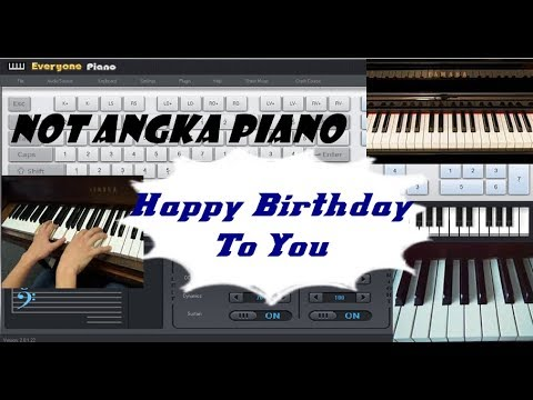 Not Angka Happy Birthday To You