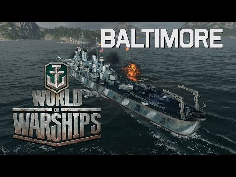 World of Warships - Baltimore Helps to Close