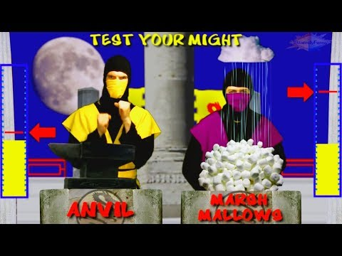 REAL MORTAL KOMBAT - Test Your Might Parody (Scorpion vs Rain)