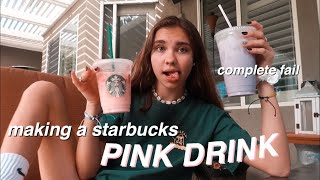 attempting to make a starbucks pink drink!