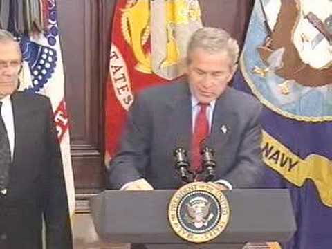 Bush Thinks About New Ways of Harming Our People