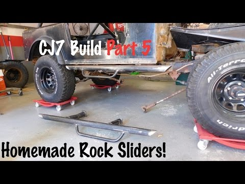 Homemade Side Steps/Rock Sliders | Jeep CJ7 Build Part 5