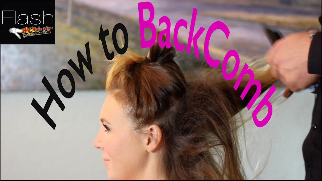 How to properly backcomb your hair without damaging it picture