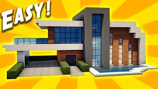 Minecraft easy modern house mansion tutorial 9 part 2 for Keralis modern house 9 part 1
