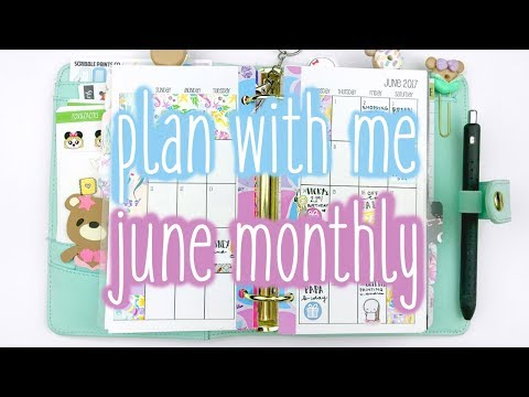 Plan With Me ♡ June Monthly (Sew Much Crafting - Personal)