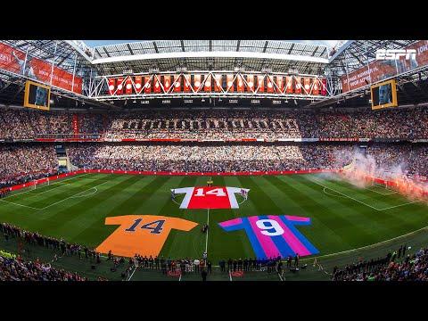 Ajax bewijst Johan Cruijff op indrukwekkende wijze de laatste eer