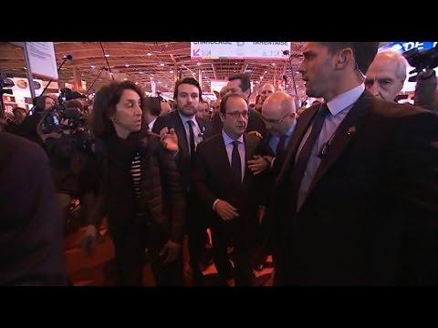 Salon de l agriculture la visite mouvement e de fran ois for Hollande salon agriculture