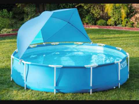 Intex Pool Canopy Shade For Metal Frame And Ultra Frame Above Ground Pools  Feet In Diameter