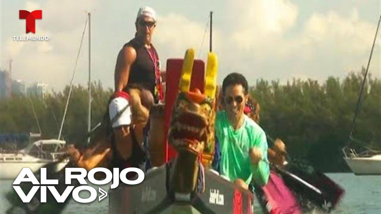 Antonio Texeira se aventura en una prueba de dragon boat, un deporte de origen chino