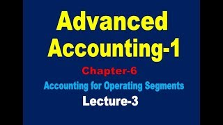 Accounting for Operating segments// Advanced Accounting-1// Operating segments Class-2(Lecture-3)