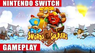 Swords & Soldiers Nintendo Switch Gameplay