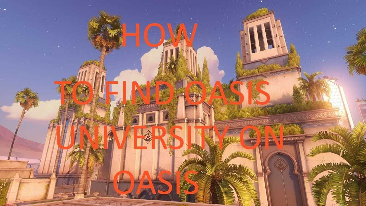 How to find Oasis university and Oasis garden on Oasis - YouTube