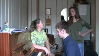 Урок вокала.Упражнение-распевка.Соединение регистров,одна позиция,чистота интонирования