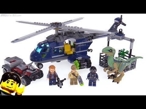 LEGO Jurassic World Blue's Helicopter Pursuit review! 75928