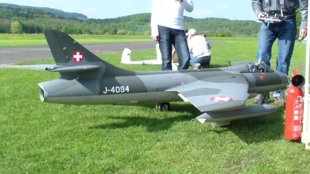 Giant Rc Hawker Hunter Swiss Painted R C Turbine Scale