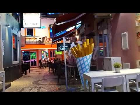 Albufeira Old Town. Night time 2019