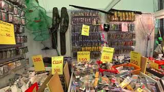 Распродажа недорогих снастей на Выставке Охота и рыболовство на Руси 2021. Воблеры по 150 рублей.