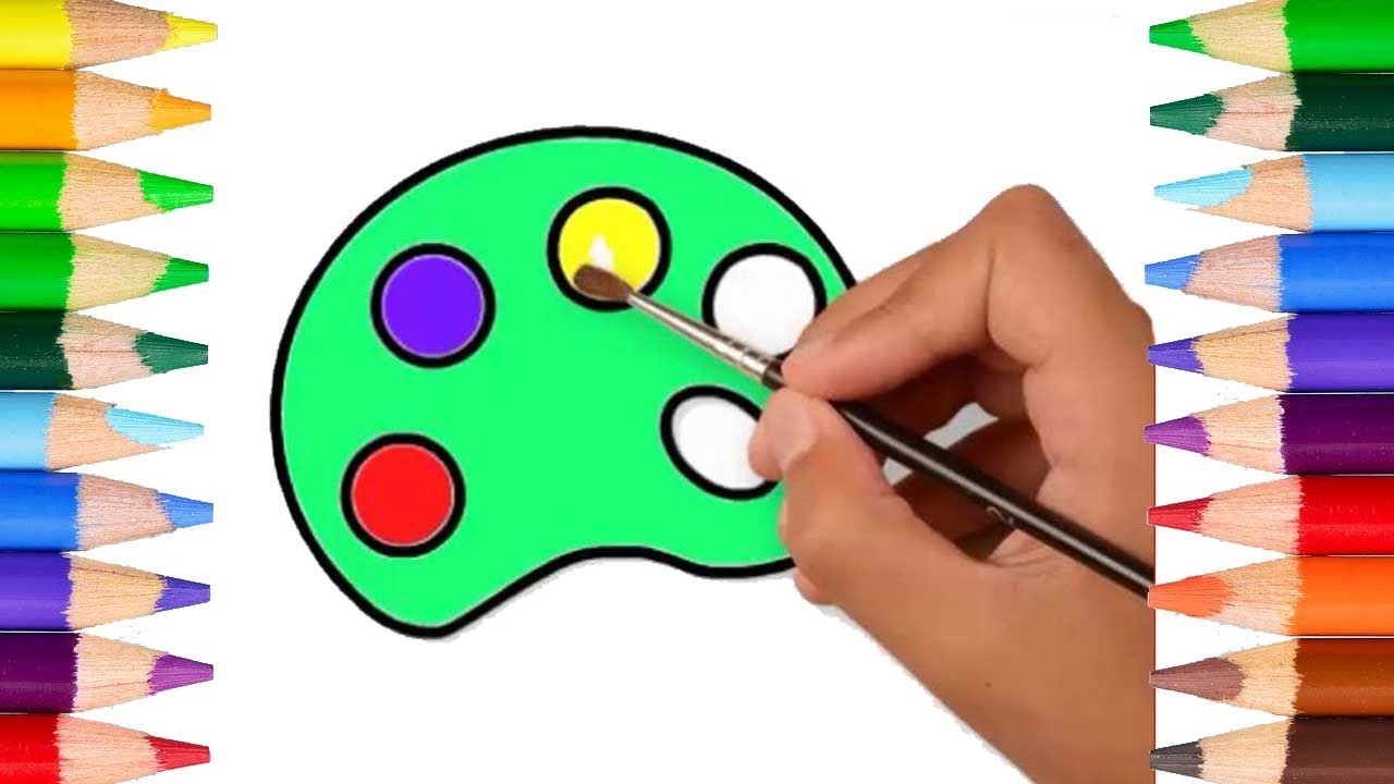 Learn Colors for Children and Kids | Color Palette Coloring Pages ...