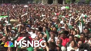 Mexican Fans Celebrate So Hard They Cause Artificial Quake | All In | MSNBC