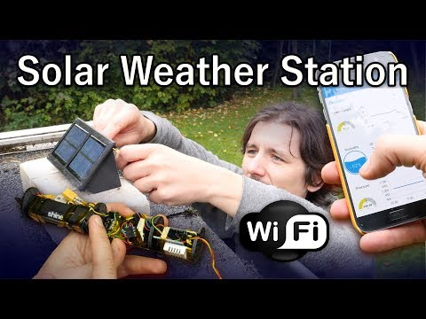 Solar Weather Station [WiFi, MQTT, Smart Home, ESP8266]