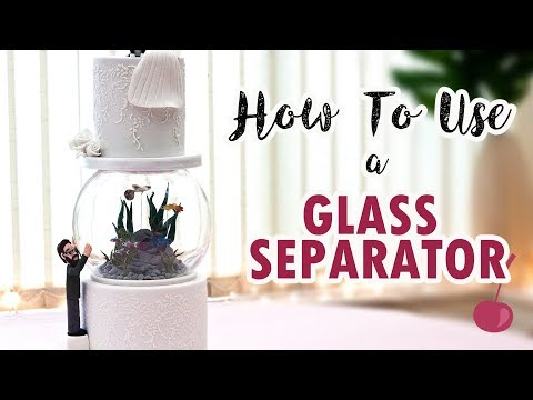 How To Use A Glass Bowl Separator | Cake Assembly | Cherry Basics