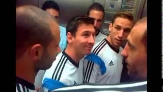 Fanático argentino se encontró a la Selección en un ascensor