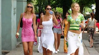Arbat street  Most beautiful girls in Moscow  Summer In Moscow  Russia