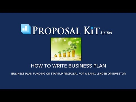 How To Write A Business Plan Funding Proposal