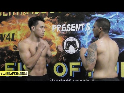 Fist of Fury II Weigh Ins - Pro & Corp Boxing Show 28May16 @ The ABA