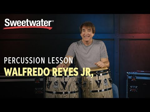 Conga Drums Percussion Lesson 1 With Walfredo Reyes Jr. | Drum Lesson