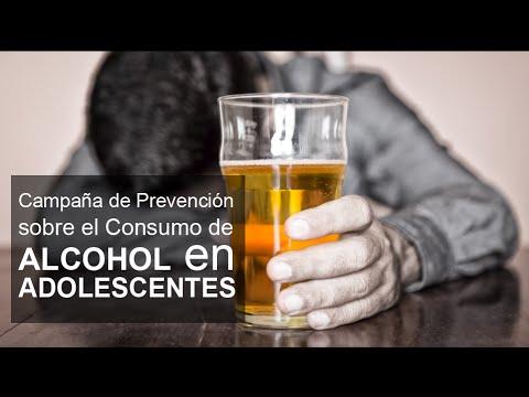 La presentación por el alcoholismo de los menores de edad