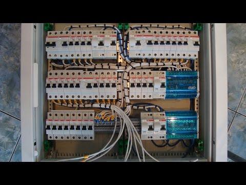 Схема подключения УЗО в однофазной сети с заземлением и