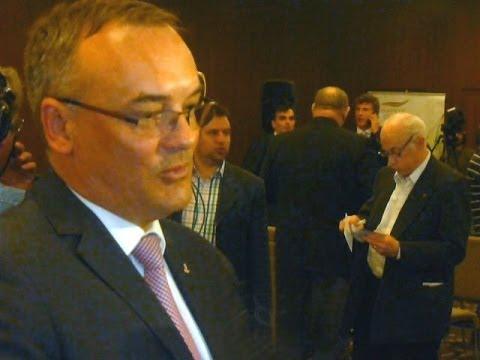 Magyar Olimpiai Bizottság 2014  évi közgyűlésén - Borkai Zsolt, MOB elnök ...
