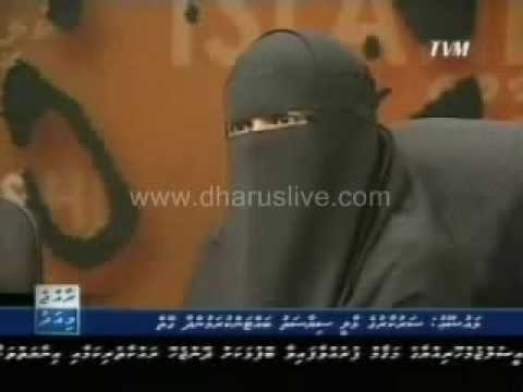 First Time in history, fully covered lady appeard on state TV