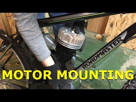 80cc 2-Stroke Motorized Bike Build EP9 - Motor Mounting