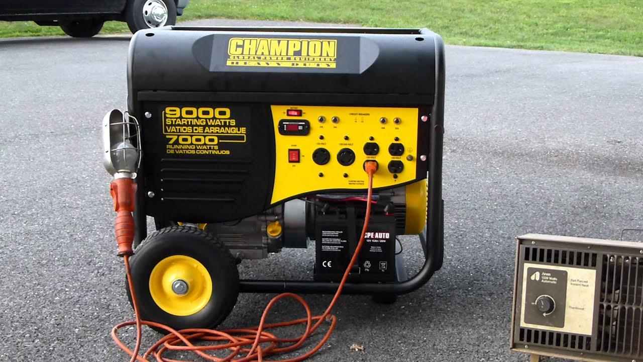 champion 9000 watt generator remote stop fail [ 1280 x 720 Pixel ]