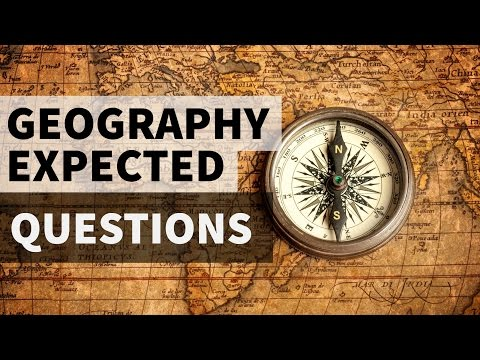 Expected Geography MCQ questions in SSC CHSL , SSC CGL Part 1