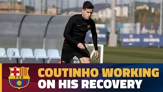 Coutinho continues his recovery work