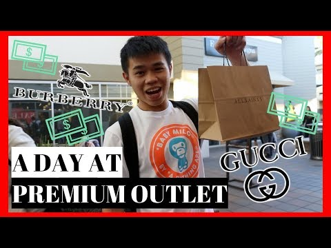 SHOPPING AT SAN FRANCISCO PREMIUM OUTLETS (ALL SAINTS, BURBERRY AND GUCCI)