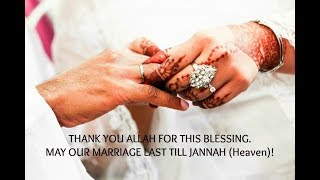 Marriage may allah till our jannah bless Happy Anniversary!