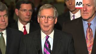 Incoming and outgoing Majority Leaders push issues in the Senate lame duck showdown. (Nov. 18)