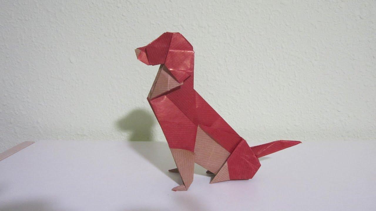 Origami German Shepherd by Oriol Esteve - YouTube | 720x1280