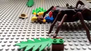 lego giant spider attack
