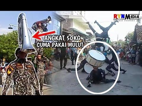 WOW..!! ANGKAT PULUHAN KILO PAKAI MULUT || MARCHING BAND POLIMARIN SEMARANG