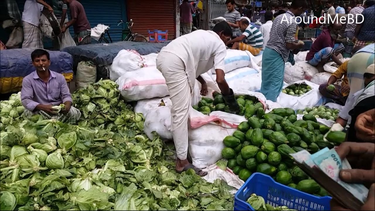 Biggest Vegetables Market in the World in middle of road at very Morning