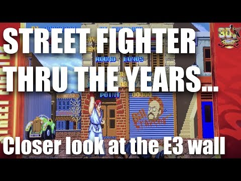 Street Fighter 30th Anniversary Wall, E3 2017 (PAUSE TO READ DETAILS)