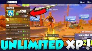 Fortnite AFK XP FARM GLITCH - Unlimited XP Rank Up SUPER FAST!